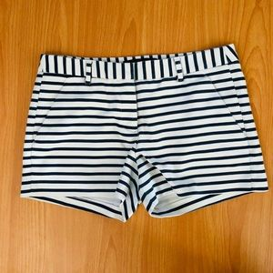 Zara Blue & White Striped Shorts